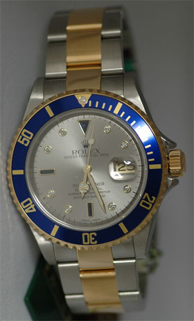 b7d3543aca5 Rolex Submariner - Serti Dial , Rolex Watches | Preowned Rolex ...